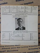 ANTIQUE 1916 CONVICT MUG SHOT MCNEEL SAN FRANCISCO VENTURA CA MN LAW PHOTO