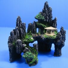 UP Mountain View Aquarium Ornament tree house Cave Bridge Tropical Fish tank