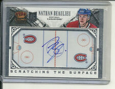 NATHAN BEAULIEU RC AUTOGRAPH 13-14 CROWN ROYALE SCRATCHING THE SURFACE AUTO