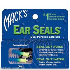Mack's (Macks) Ear Seals Dual Purpose Ear Plugs x 1 Pair (FREE UK P&P)
