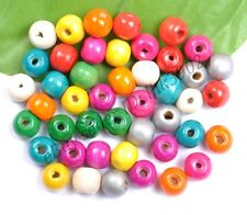 100pcs WOOD Round Loose Spacer Charms BEADS - Choose 6MM 8MM 10MM 12MM 14MM