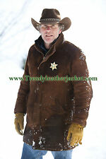 LONGMIRE - SHERIFF WALT (ROBERT TAYLOR) LONGMIRE COW HIDE LEATHER COAT JACKET