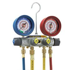 Yellow Jacket 46042 Brute II Test & Charge Manifold, (F) with Red/Blue gauges