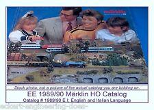 EE 1989/90 E-I Marklin HO Catalog Years 1989 1990 Entire Family Railroading EXC