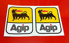 "Derbi Gp50 2 x 4 ""Agip Sticker calcomanía de pegatinas 100mm Alta logotipos de patrocinadores"