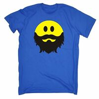 Bearded Smiley Face T Shirt - funny slogan beard gift pirate tee smiley retro ar