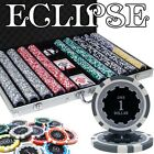 1000 Piece Eclipse 14 Gram Clay Poker Chip Set with Aluminum Case (Custom) New