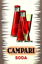 VINTAGE ITALIAN CAMPARI SODA C.1970 ADVERTISEMENT POSTER A3 REPRINT