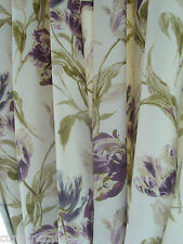 New Door Curtain made in Laura Ashley GOSFORD PLUM purple floral Thermal