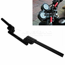 "Universal Handlebars 22mm 7/8"" Bar Motorcycle Sport Bikes for Honda Yamaha Black"