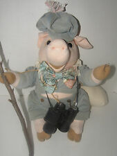 """20"""" """"MATIS ORIGINAL"""" PIG PLUSH STUFFED ANIMAL TOY MADE IN THE USA-COLLECTIBLE"""