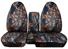 CC 98-03 FORD RANGER TREE CAMO CAR SEAT COVERS 60-40 seat+CONSOLE COVER,CHOOSE