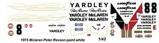 #8 Peter Revson Yardley Mclaren 1975  1/43rd Scale Slot Car Decal Waterslide