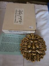 NIB Michael Healy Designs MH2021 OLD MAN WEATHER Door Knocker Brass