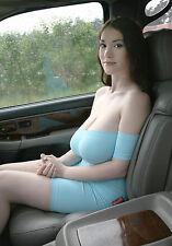 PHOTO 6X8 Sexy Woman Big Busty - Beautiful Girls in Car