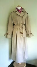 Women's Burberry trenchcoat style raincoat beige US14 UK16-18 ex-long suit LTS