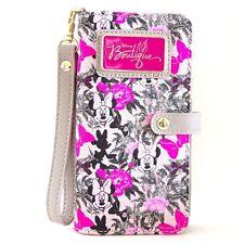 Disney Parks Boutique Minnie Mouse Pink Wallet w/ Wrist Strap Wristlet