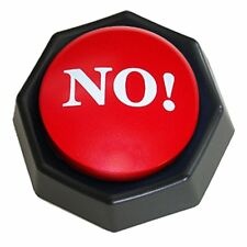 The NO! Button Electronic Voice Toy Gag Gift 10 Versions of No HUMOR funny NEW