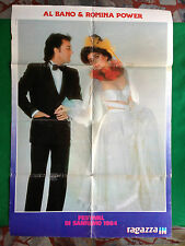 (M19) Poster 69x47 cm AL BANO ROMINA POWER + RAMAZZOTTI BOY GEORGE da RAGAZZA IN