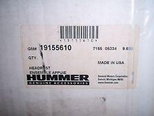 NIB Hummer H3 Dual DVD Headrest System Ebony cloth w/dk gr stitch GM # 19155610