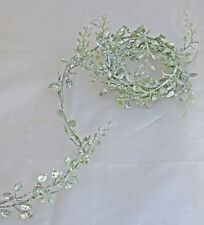 Mini feuille garland vert argent 180cm Plante de décoration artificielles