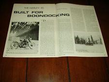1941 HARLEY DAVIDSON 45    ***ORIGINAL 1984 ARTICLE***