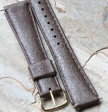 Brown 18mm rubber Tropic band type vintage dive watch waterproof strap 1960s/70s