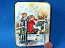 Russian LACQUER Box CUTE Children: Upset Girl & Boys UNIQUE Hand painted GIFT