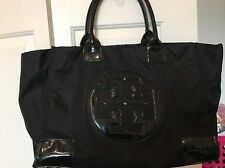 Tory Burch Ella Nylon Large Logo Tote Bag Black