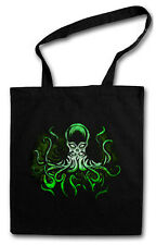 GREEN CTHULHU Hipster Shopping Cotton Bag Wars H. P. Lovecraft Miskatonic Arkham