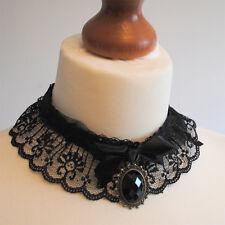 Gothic Victorian Lace Gargantilla Con Colgante Y Moño. - Gothic, Victoriano