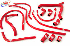 HONDA VTR 1000 SP1 SP2 2000-2006 HIGH PERFORMANCE SILICONE RADIATOR HOSES RED