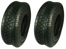 Set of 2 Turf Tires 15x6-6 Tubeless 4 Ply John Deere Cub Cadet Lawnmower Tractor