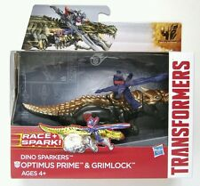 Hasbro Transformers Age of Extinction Dino Sparkers Optimus Prime and Grimlock