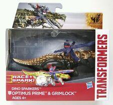 Hasbro Transformers Age of Extinction Dino Sparkers Optimus Prime and Grimlock