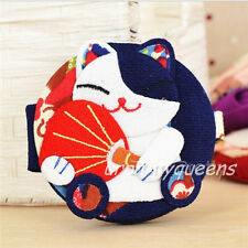 1Pc Cute Japanese Style Fortune Cat Foldable Mirror Mecor Makeup Mirror (Random)