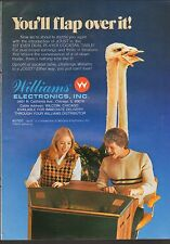 VINTAGE MAGAZINE AD #00424 - 1970s/1980s WILLIAMS JOUST ARCADE VIDEO GAME