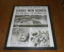 1944 CARDINALS WINS WORLD SERIES FRAMED 11x14 NEWSPAPER FRONT PAGE PRINT