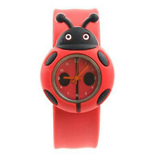 Child Boy Girl Ladybug Adorable Cartoon Silicone Watch - Color: Red LW