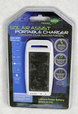 Solar Powered Portable Cell Phone Charger, Use with Galaxy, iPhone, ect.  White