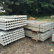 concrete Gravel Boards and slotted fence posts