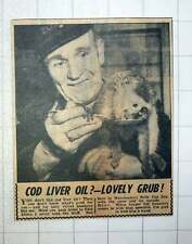 1954 Manchester's Bellevue Zoo Keeper Sid Saunders With Baby Vervet Monkey