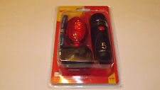 AMTECH 2PC BICYCLE SAFETY LIGHT SET 6XAAA BATTERY INCLUDED