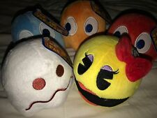 Ms. Pac-Man Set Of 5 Plush Official Namco Toy factory Ms. Pacman Ghosts
