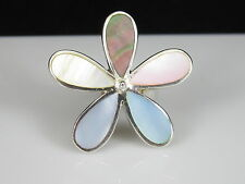 Sterling Silver Flower Ring NF925 Nickle Free Size 5.75 Spring Summer