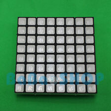RGB 8x8 Full Color Dot Matrix LED 60x60mm Colorful Square Display Common Anode H