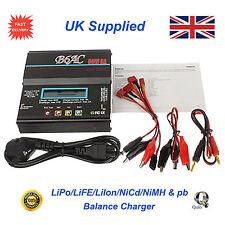B6AC 80W UK LiPo Li-Ion LiFe NiMH Nicad PB Balance Charger & Leads