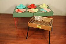 Vtg Royalshire Picnic-Aire Picnic Case Set Built-in Table w/ Mohawk Metal Grill