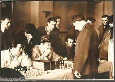 vintage Bulgarian photo Chess tournament Sofia 1956
