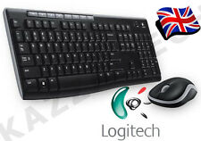 Logitech mk270 Wireless Regno Unito QWERTY Tastiera e Mouse Desktop Combo Set Nero &